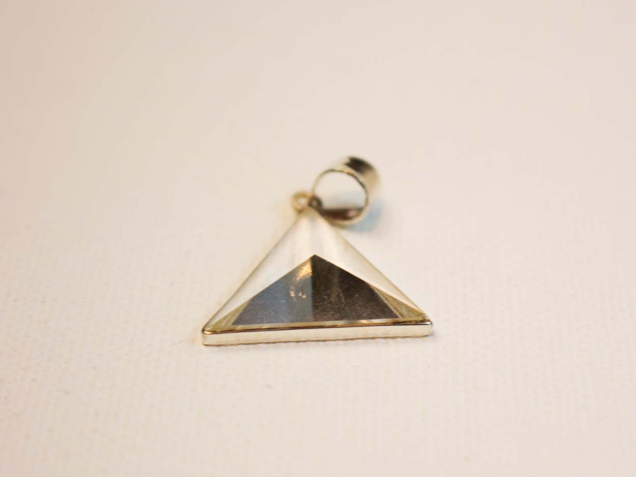 triangular marble thefinerylab from india charm triangle necklace punk hot plated vintage women product necklaces pendant gold stone geometric faux